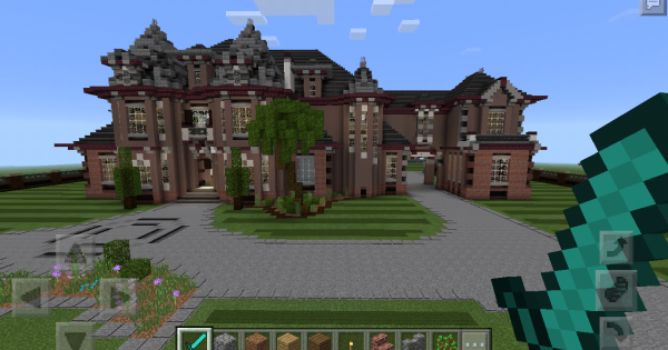how to build a huge mansion in minecraft pe