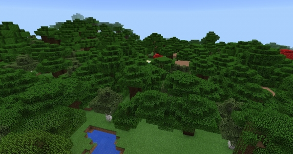 Dark Oak Wood Forest Minecraft Pe Seed Minecraft Hub