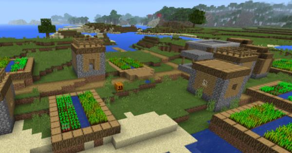 Coastal Village Minecraft PE Seed Minecraft Hub