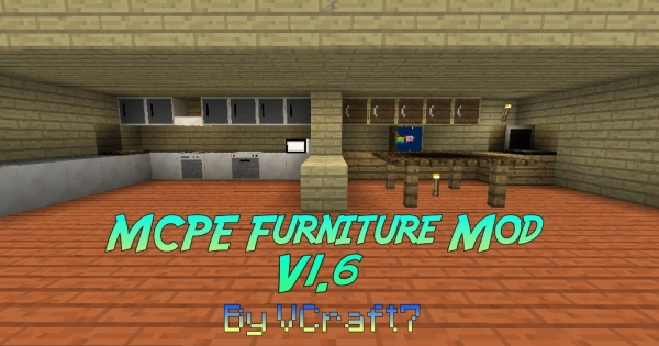 Mcpe Furniture Mod V1 6 By Vcraft7 Minecraft Pe Mod Minecraft Hub