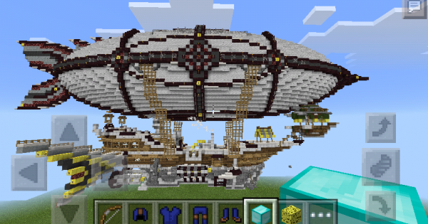 how to make a flying ship in minecraft