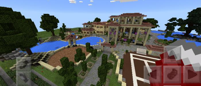 Big Modern house mcpe MCPE Maps Minecraft Pocket Edition
