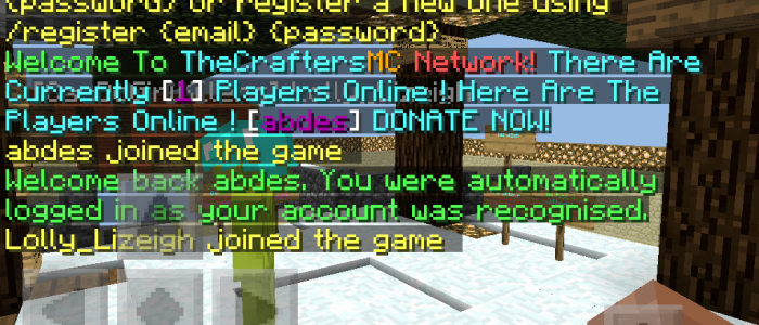 TheCrafters MC Network (Mini-Games) (Parkours) (SHOP)