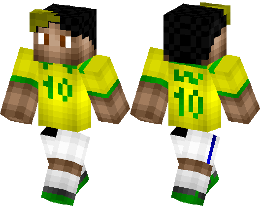 Neymar Football Player Minecraft Skin Minecraft Hub - Skin para minecraft pe de neymar