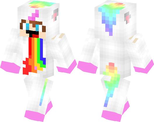 Derpy Unicorn Boy Puking Rainbow | Minecraft Skin