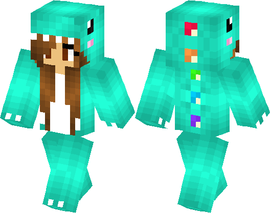 Blue Dino Skin Minecraft Skin Minecraft Hub - Skin para minecraft pe vip