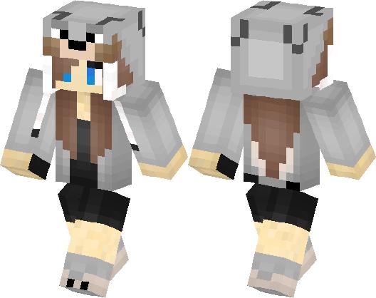 Wolf Girl Skin Minecraft Skin Minecraft Hub - Skins para minecraft pe wolf