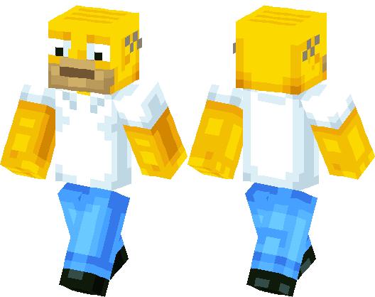 homer simpson   Minecraft Skin   Minecraft Hub