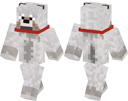 Tamed Wolf Skin Minecraft Skin Minecraft Hub - Skins para minecraft pe wolf