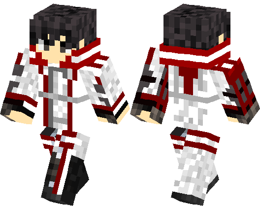 Kirito Knights Of The Blood Oath Minecraft Skin Minecraft Hub - Skin para minecraft pe kirito