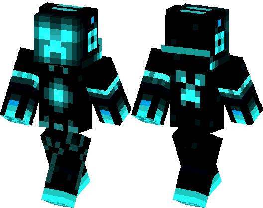 Tron Creeper Skin Minecraft Skin Minecraft Hub - Skin para minecraft pe creeper