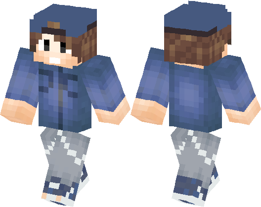 Cool Boy with Nice Shirt and Grey Jeans | Minecraft Skin
