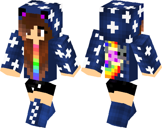 Galaxy Cat Girl Skin Minecraft