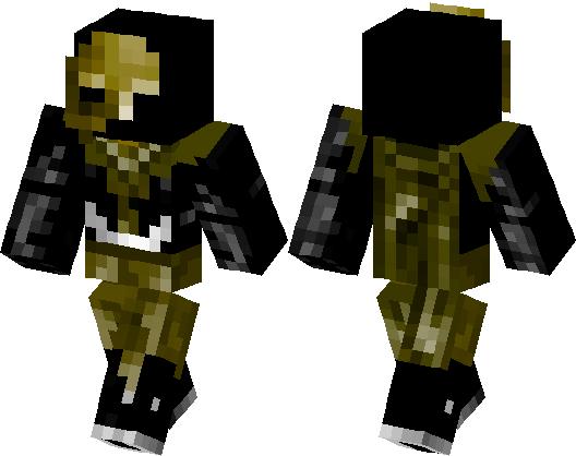 Golden Phantom Spooky Skin Minecraft Skin Minecraft Hub - Skins para minecraft pe fantasma