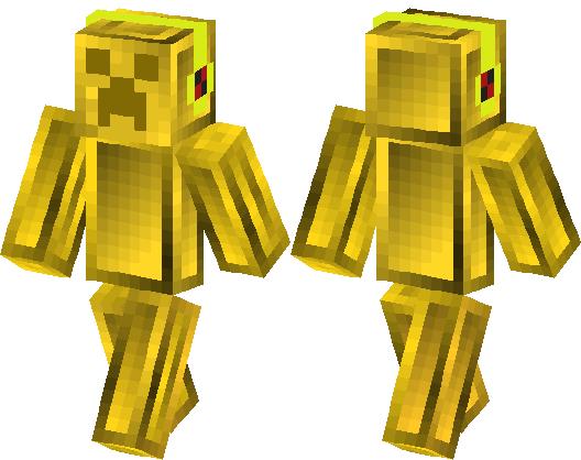 Golden Creeper Brick Diamond Skin Minecraft Skin Minecraft Hub - Skin para minecraft pe creeper