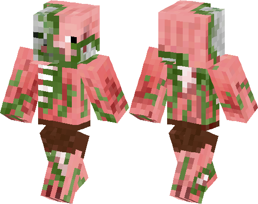 Zombie Pigman SKIN Minecraft Skin Minecraft Hub - Skin para minecraft pe zombie