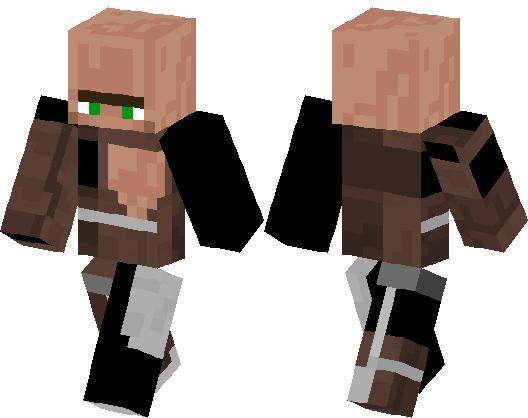 Villager Original Minecraft Skin Minecraft Hub - Villager skin fur minecraft pe
