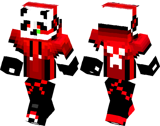 panda red cool minecraft skin minecraft hub