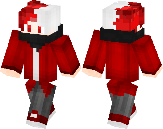 Boy with redwhite hair minecraft skin minecraft hub publicscrutiny Image collections