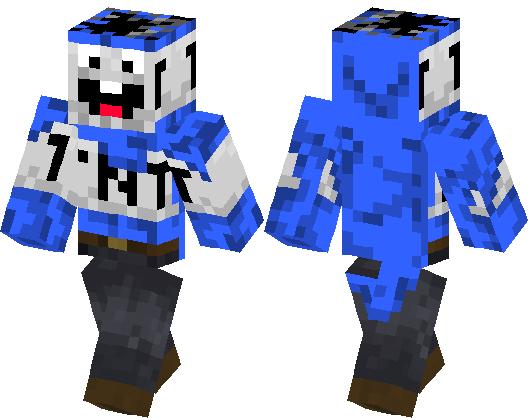 Blue TNT From YT Minecraft Skin Minecraft Hub - Minecraft spiele mit tnt