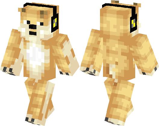 Doge The MLG Dog Minecraft Skin Minecraft Hub - Dog skins fur minecraft