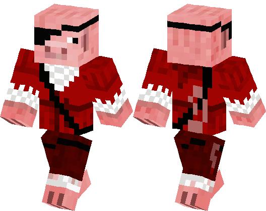 - Pirate Pig - | Minecraft Skin | Minecraft Hub | 528 x 418 png 14kB