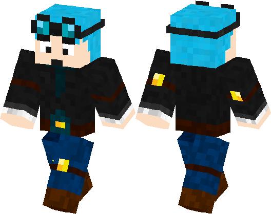 DanTDM Blue Hair Minecraft Skin Minecraft Hub - Skins para minecraft pe de rock