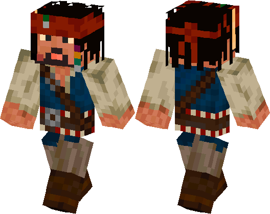 Image result for jack sparrow minecraft