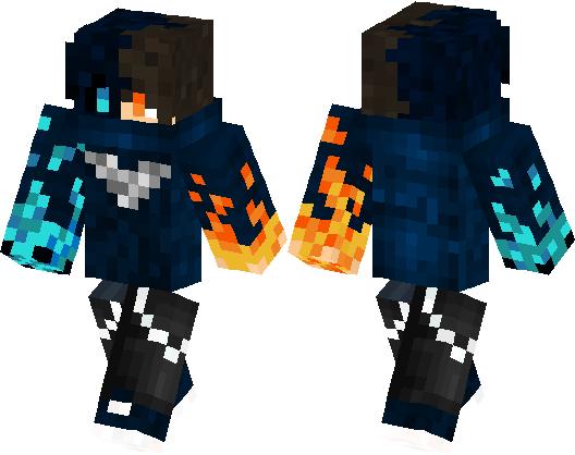 FIRE AND ICE NINJA Minecraft Skin Minecraft Hub - Ninja skins fur minecraft