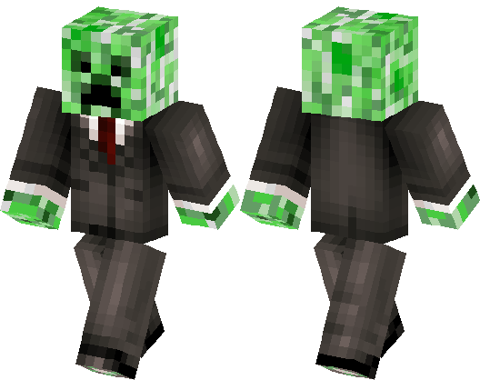 creeper in a suit | Minecraft Skin | Minecraft Hub
