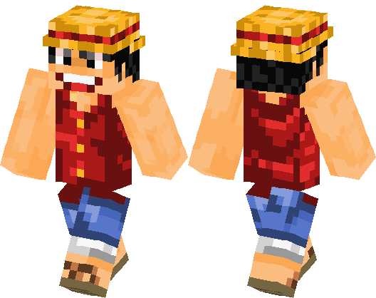 Luffy One Piece Minecraft Skin Minecraft Hub - Skins para minecraft pe one piece