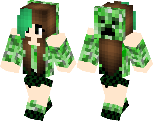 Creeper girl | Minecraft Skin | Minecraft Hub