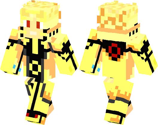 Naruto Tails Mode Minecraft Skin Minecraft Hub - Skins para minecraft pe de naruto