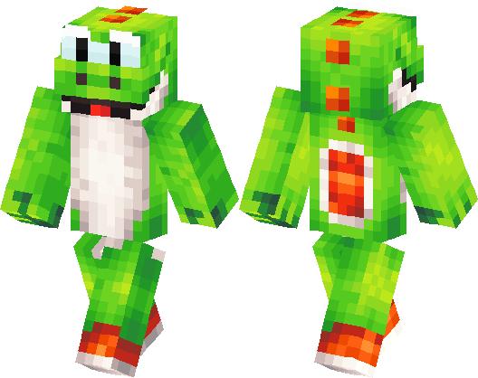 Yoshi Skin Minecraft Skin Minecraft Hub - Descargar skins para minecraft pe yoshi