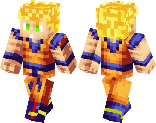 Son Goku Skin Minecraft Skin Minecraft Hub - Skin para minecraft pe goku