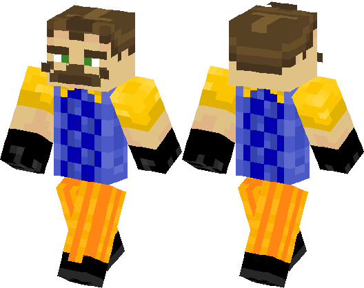Hello Neighbor Minecraft Skin Minecraft Hub - Baixar skins para minecraft de pc