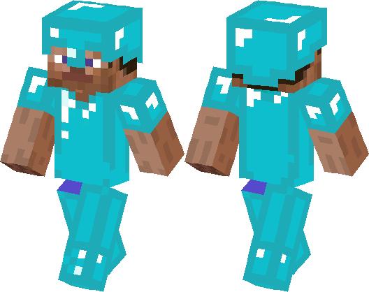 Fake Full Diamond Armor Steve Minecraft Skin Minecraft Hub